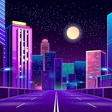 Neon City by Night by stylebytara