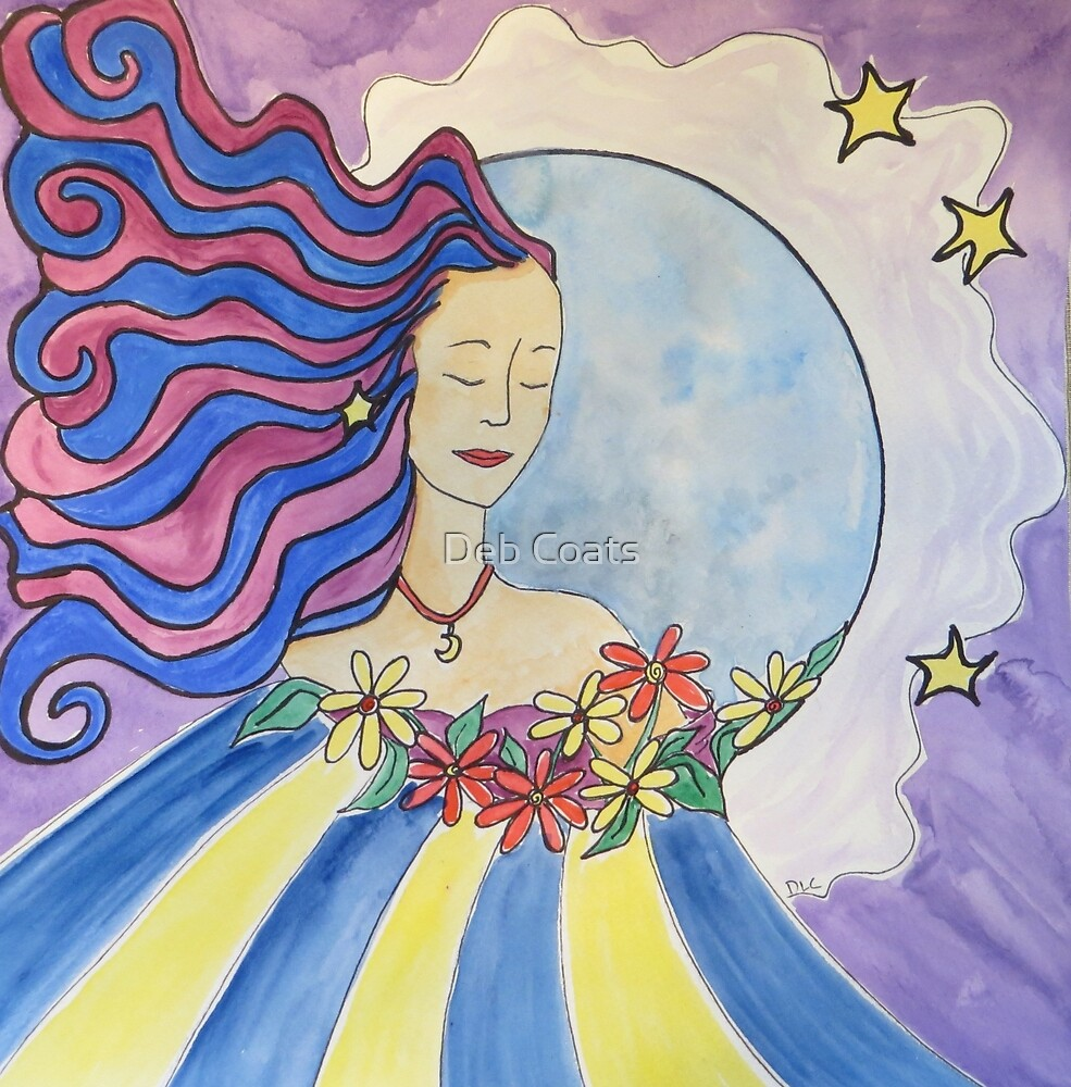 Becoming one with the Moon  by Deb Coats
