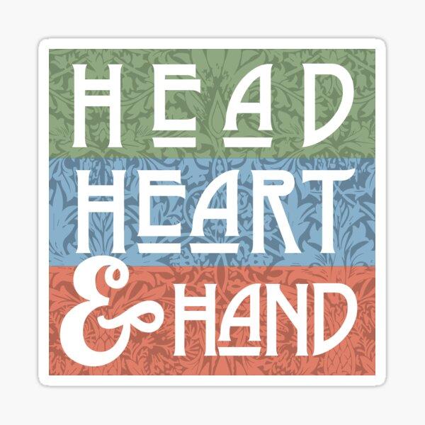 Head Heart & Hand Arts & Crafts Movement Art Motto Sticker