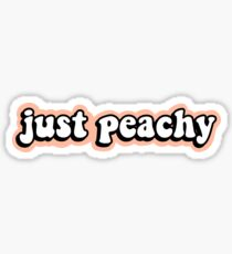 Just Peachy Sticker