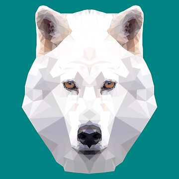 I love wolves - white wolf by Juttas-Shirts