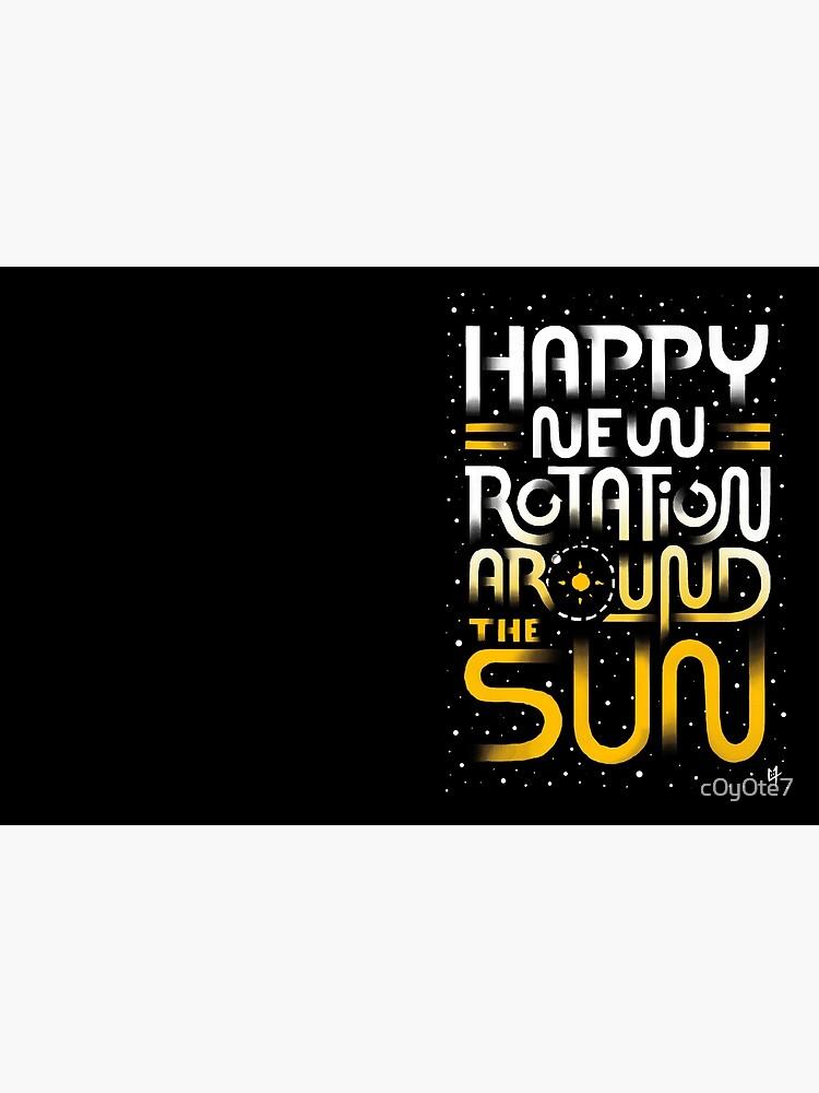 Glückliche neue Drehung um die Sonne von c0y0te7