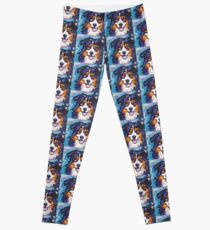 Australian shepherd Aussie Bright colorful Pop Art Leggings