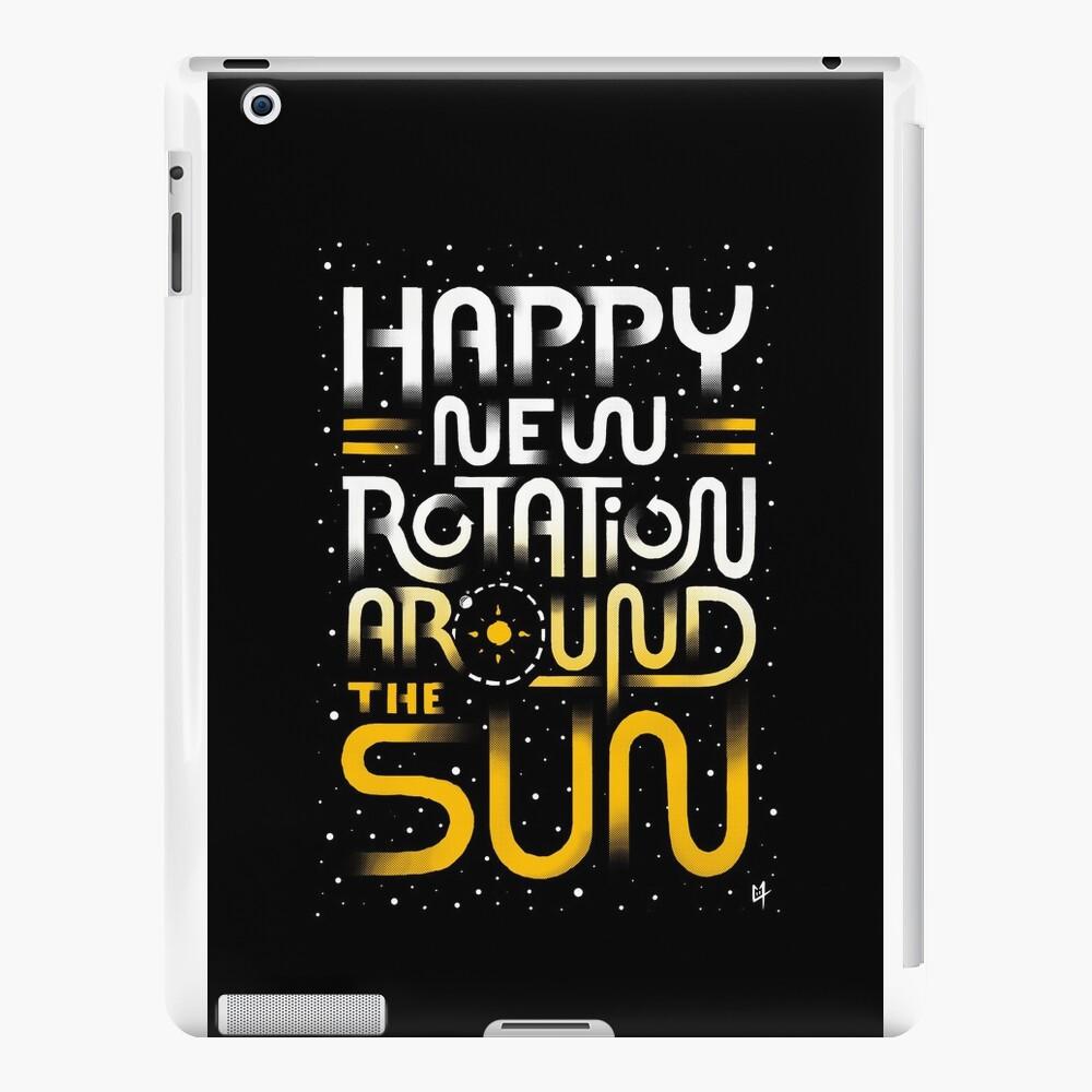 Glückliche neue Drehung um die Sonne iPad-Hüllen & Klebefolien