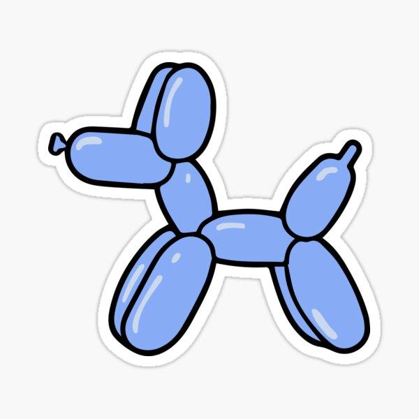 Blue Balloon Dog Sticker