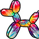 Tie Dye Balloon Dog by Shayli Kipnis