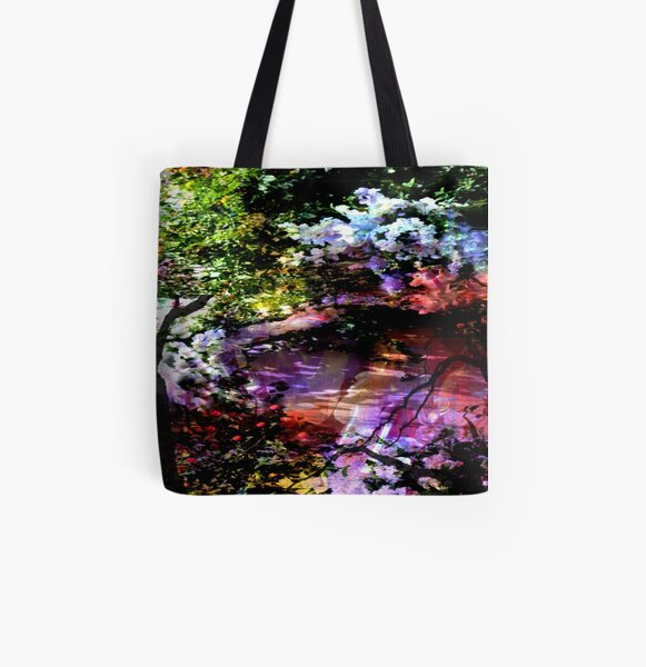 MONET ZEN GARDEN All Over Print Tote Bag