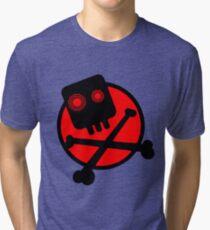 Funny skull and bones Tri-blend T-Shirt