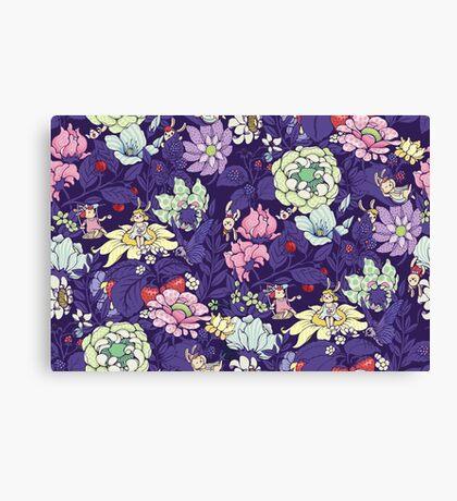 The Garden Party - blueberry tea version Canvas Print
