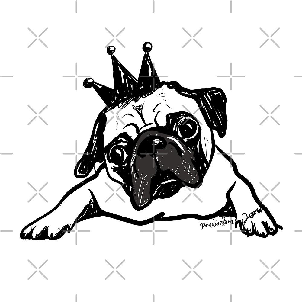 Pug dog by Pendientera
