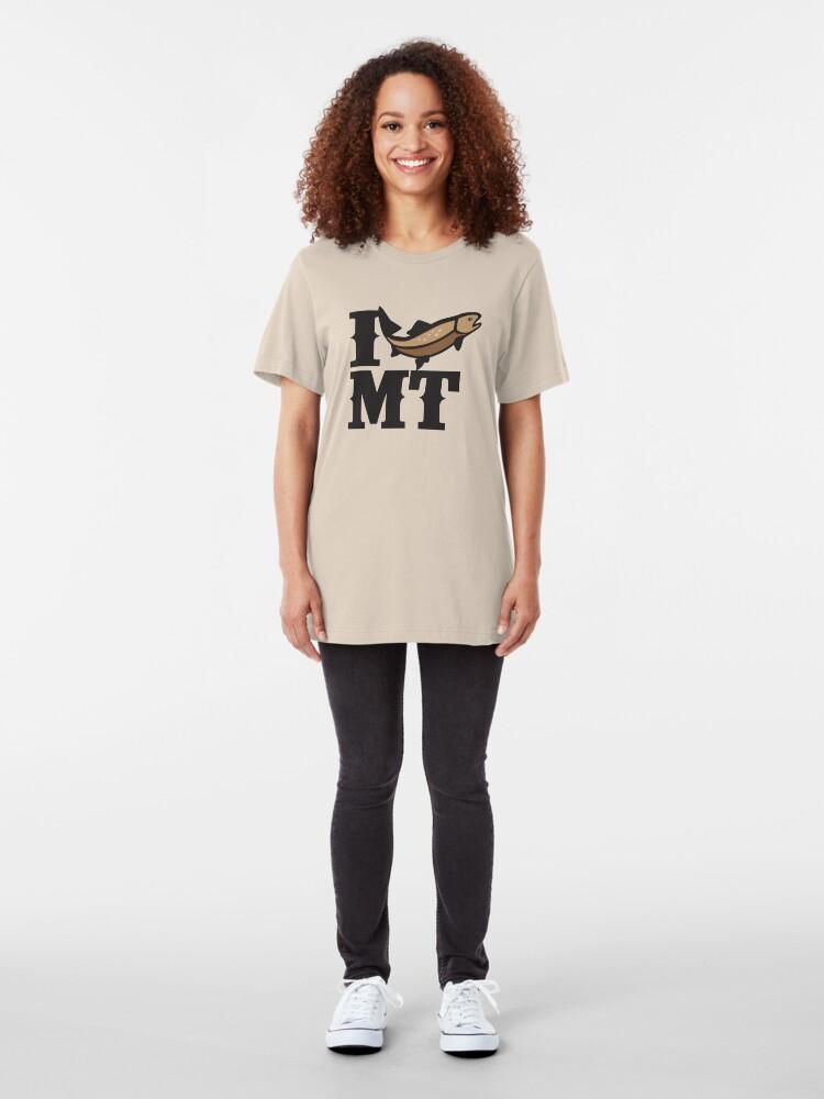 Alternate view of I love to fish Montana Slim Fit T-Shirt