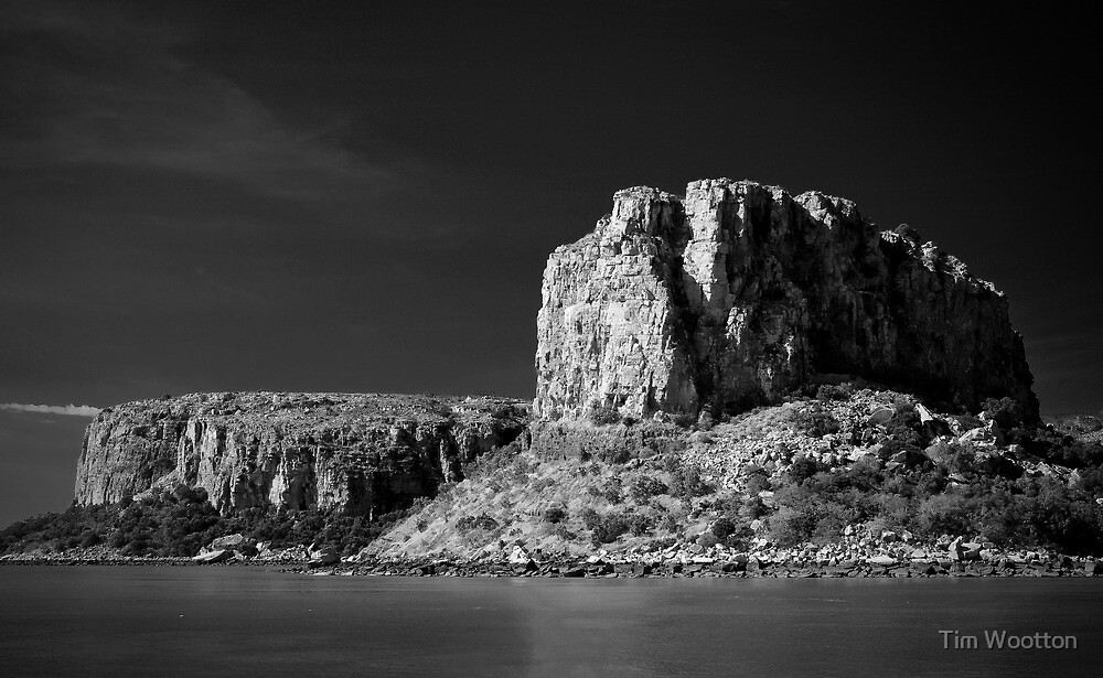 Raft Point, B&W. by Tim Wootton