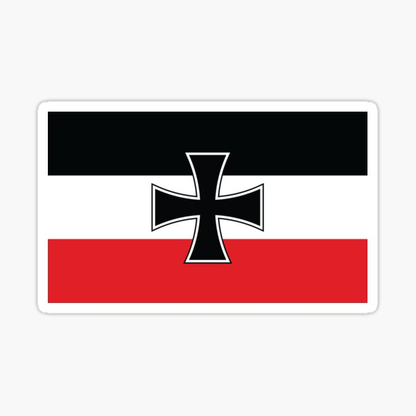 Jack of the North German Confederation and German Empire (1866) - Flag Merch Sticker