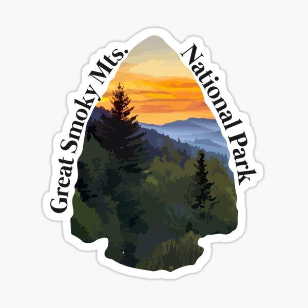 Great Smoky Mountains National Park Illustration Sticker