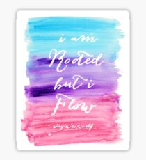 Watercolor Quote Sticker
