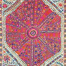 Large Medallion Suzani  Antique Uzbekistan Embroidery   by Vicky Brago-Mitchell