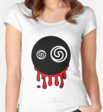 Funny cartoon bleeding head Women's Fitted Scoop T-Shirt