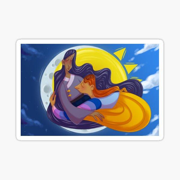 Sun and Moon in Love Sticker