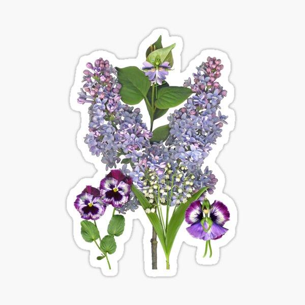 Purple Spring Garden with two Fairies Sticker