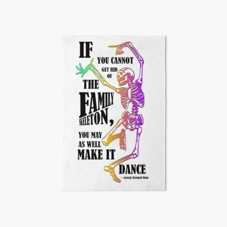Make your skeletons dance! Art Board Print