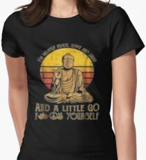 I'm mostly peace love light and a little go Yoga Tshirt Women's Fitted T-Shirt