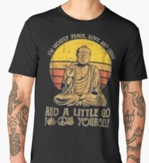 I'm mostly peace love light and a little go Yoga Tshirt Men's Premium T-Shirt