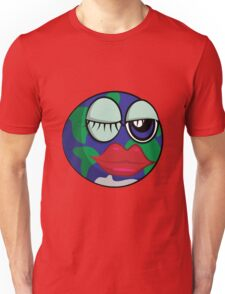 Funny cartoon planet Earth Unisex T-Shirt