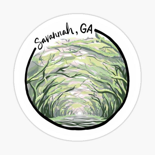 Savannah, GA Sticker