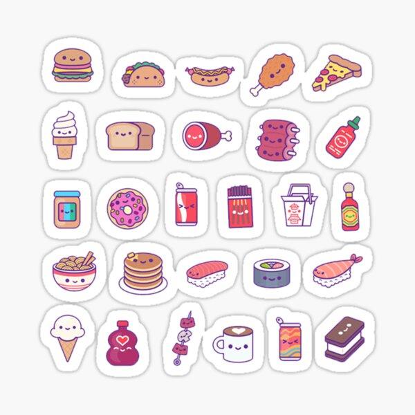 Food Set Sticker
