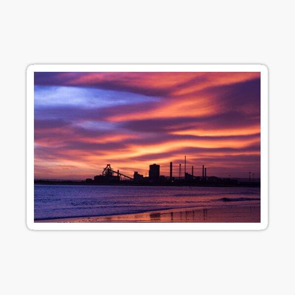 Redcar Steel Works Sunrise Sticker