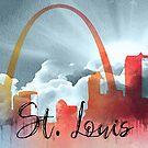 St. Louis | Stadt Skyline | Buntes Aquarell von PraiseQuotes