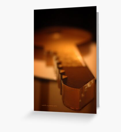 Glossy Amber Key © Greeting Card