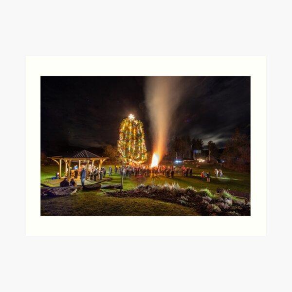Christmas Eve Mayne Island 2018 Art Print