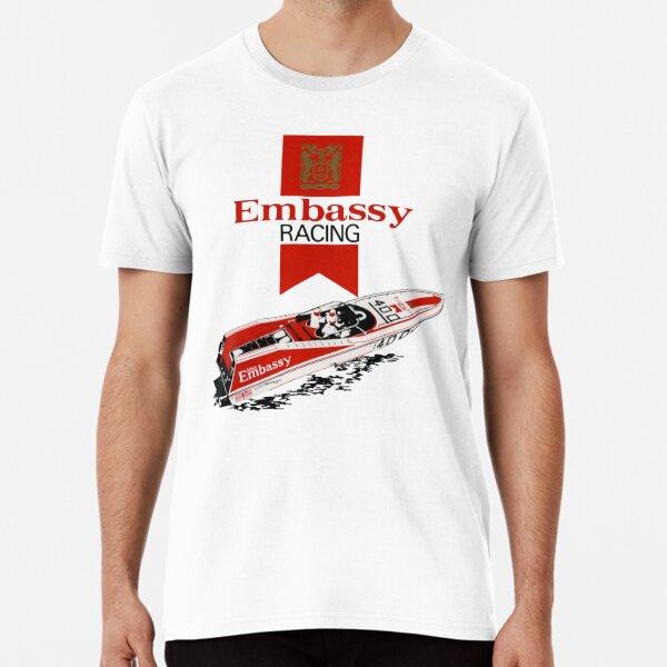 1970s Embassy Racing Boat.  Premium T-Shirt