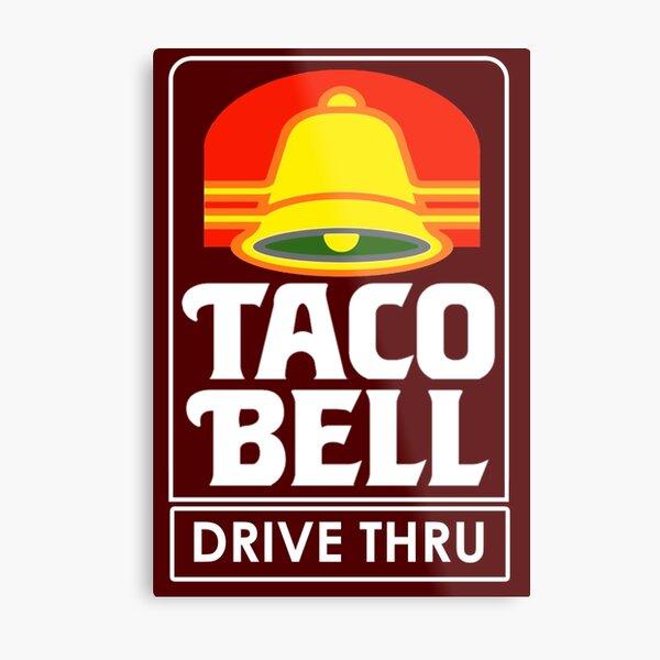 Taco Bell Drive Thru (retro) Metal Print