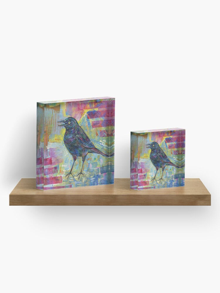 Alternate view of Rusty Blackbird Painting - 2016 Acrylic Block