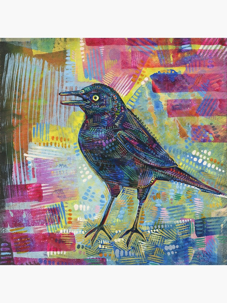 Rusty Blackbird Painting - 2016 by gwennpaints