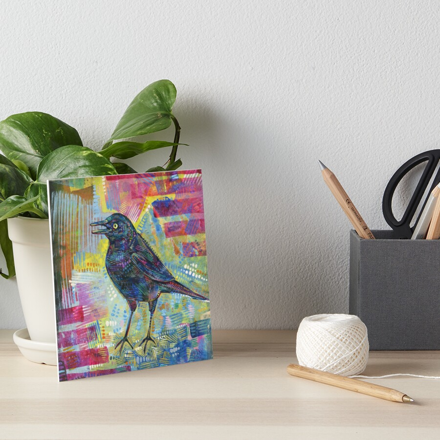 Rusty Blackbird Painting - 2016 Art Board Print