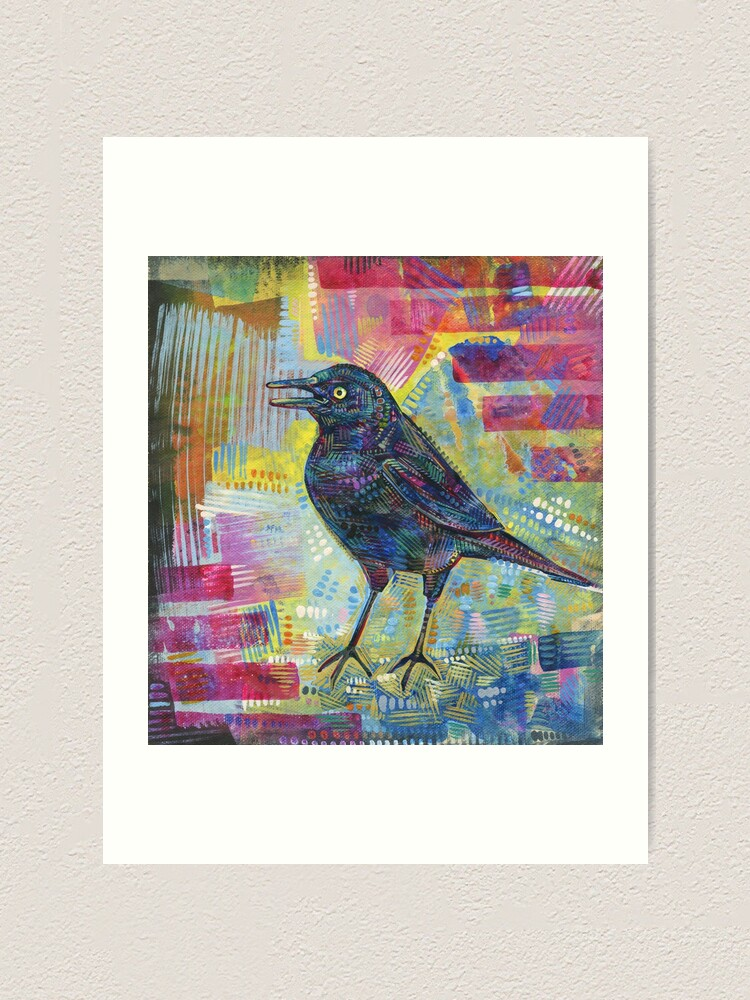Alternate view of Rusty Blackbird Painting - 2016 Art Print