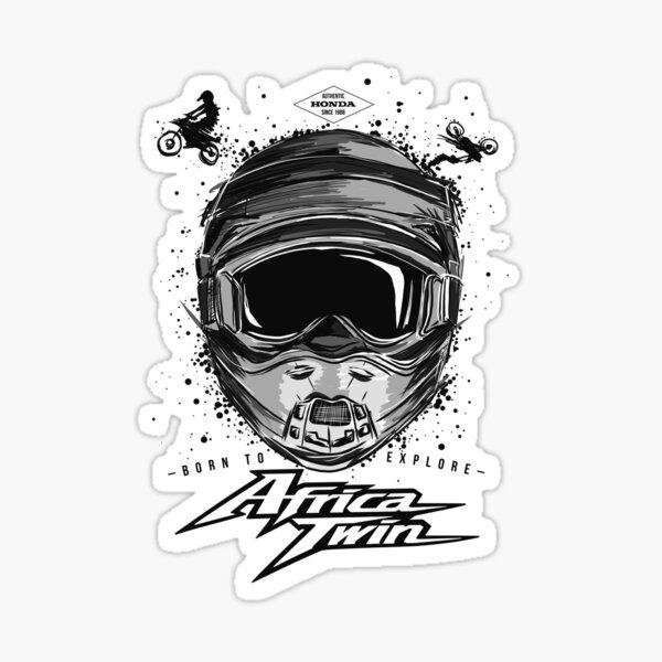 Aventura de motos en África doble Pegatina
