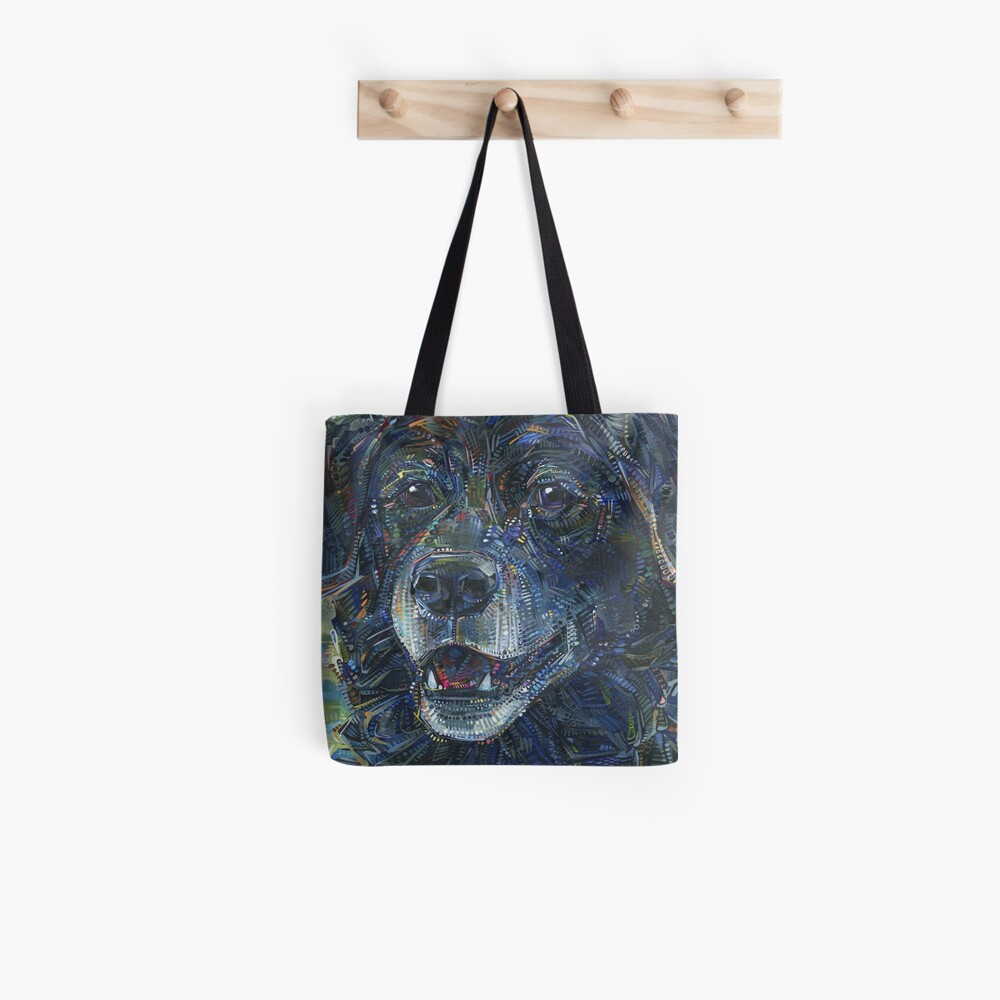Black Dog Painting - 2016 Tote Bag