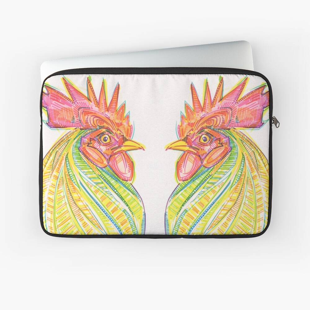 Rooster Drawing - 2017 Laptop Sleeve