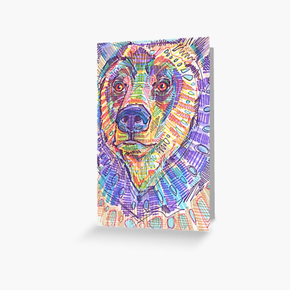 Bear drawing - 2015 Greeting Card