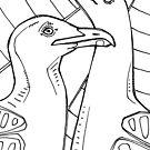 Western gull, coloring book image by Gwenn Seemel