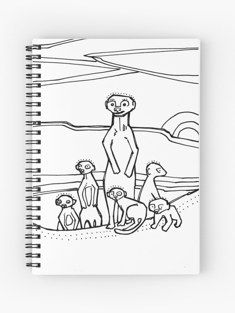 Meerkat, coloring book page\