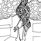 Leopard slug, coloring book page by Gwenn Seemel