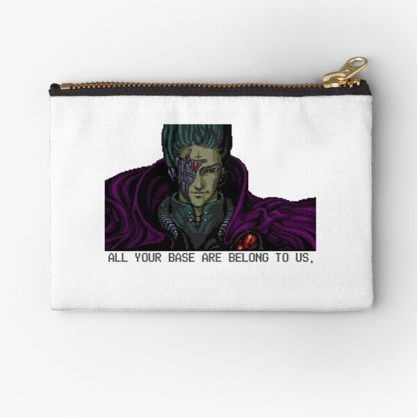 All your base are belong to us - white background Zipper Pouch