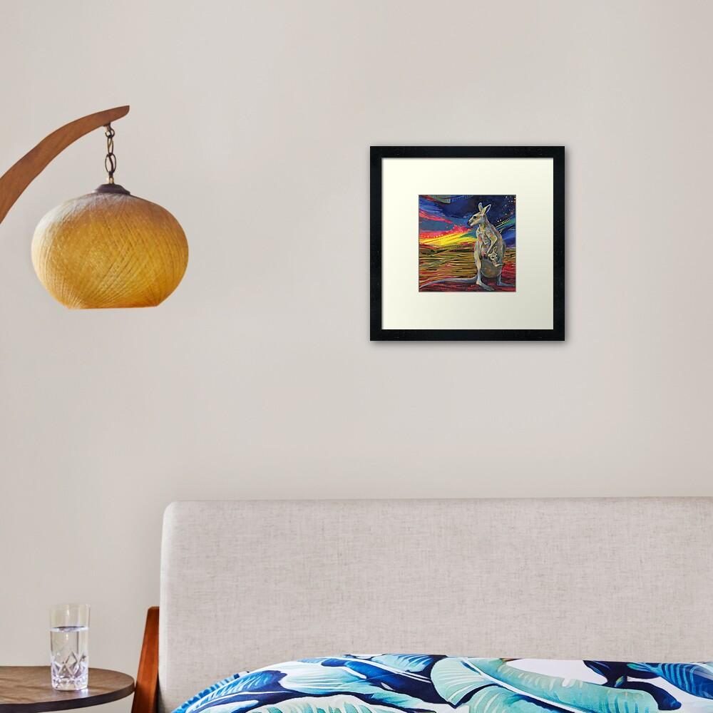Red kangaroo painting - 2012 Framed Art Print