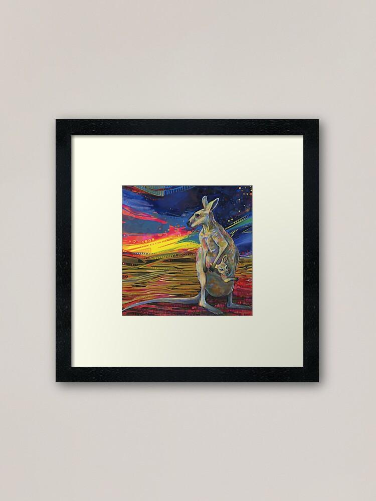 Alternate view of Red Kangaroo Painting - 2012 Framed Art Print