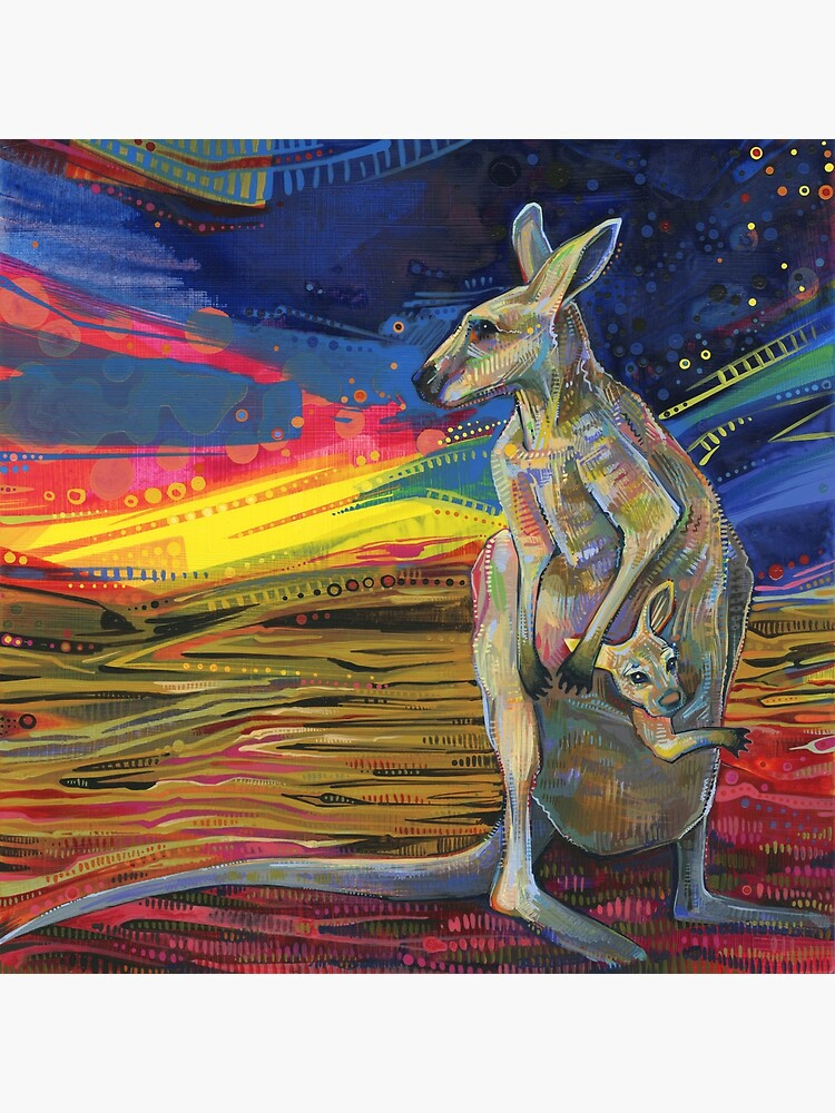 Red Kangaroo Painting - 2012 by gwennpaints